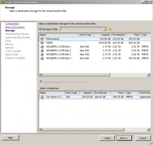 ESX - Create Virtual Machine - Disk