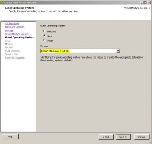 ESX - Create Virtual Machine - Guest OS