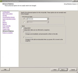 ESX - Create Virtual Machine - SCSI Allocation