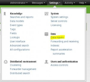 Splunk Data Inputs